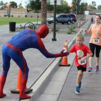 superhero charity work