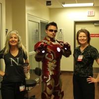 Tony Stark visiting hospital