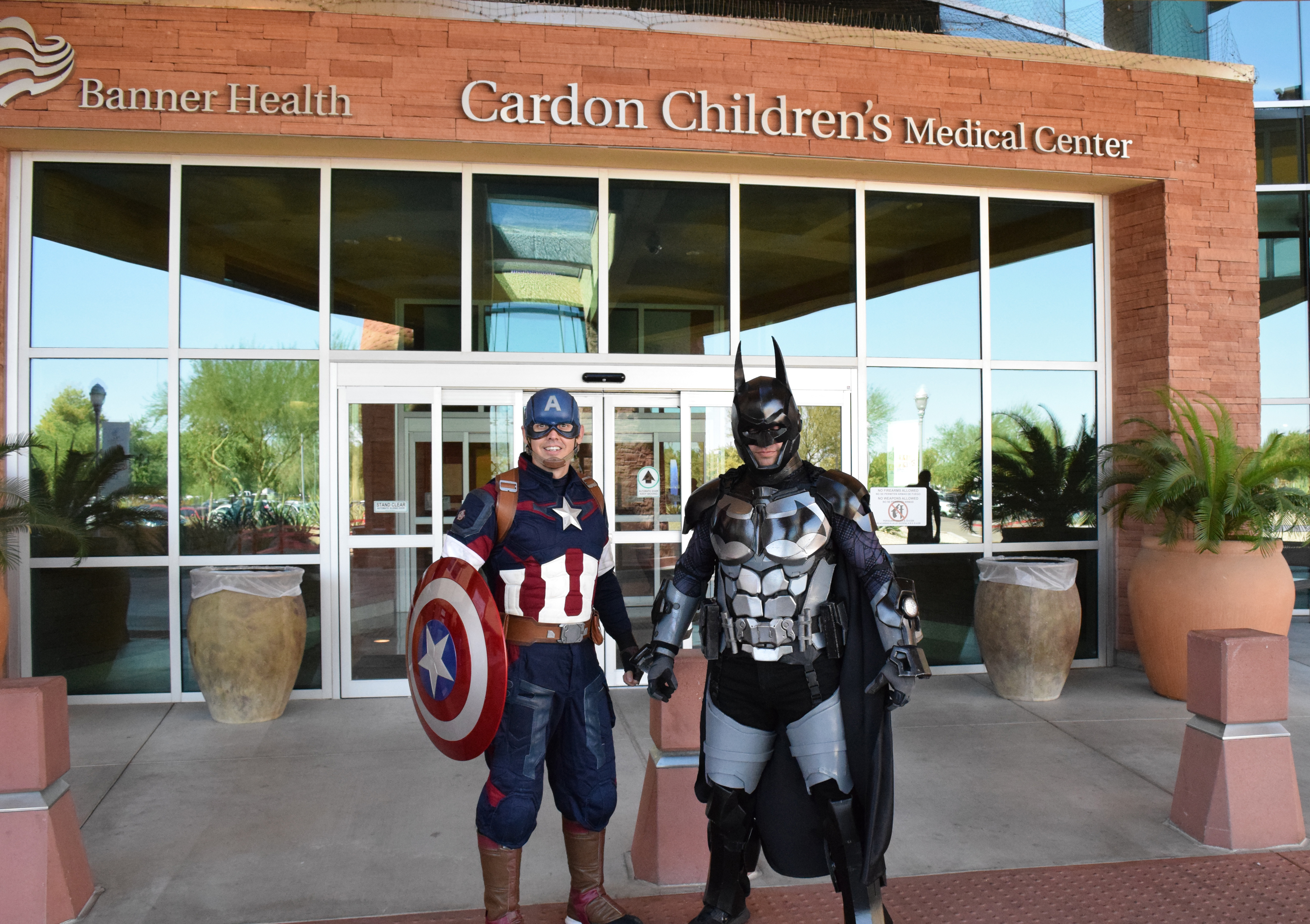 Batman, Captain America, charity
